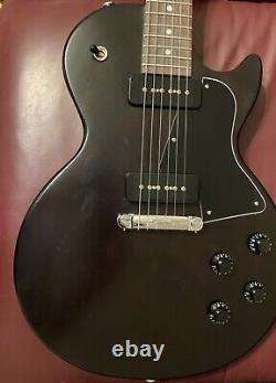 2021 Gbison Les Paul Special Tribute P90 Ebony Vintage Gloss with Accessories