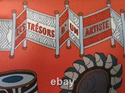 Authentic VintageHERMES SCARF from 2017 Les Tresors d un artiste