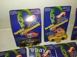 Hot Wheels Lot Of 7 Flipouts Les Cascadeurs Moc Vintage 80s Mattel