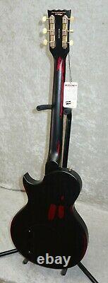In Stock! Vintage Brand V120MRBK Les Paul Jr Electric guitar Relic Black Cherry