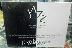 JAZZ YSL TROUSSE LES ACTIFS edt spray 100ml+ actif hidratant 75ml rare vintage