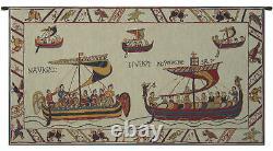 Les Normands Norman fleet- Bayeux Art Tapestry Wall Hanging
