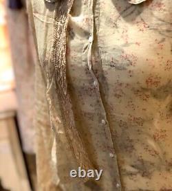 Les Ours Bluse Neu Gr. L Vintage Floral Spitze Sommer Shabby Lagenlook