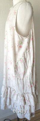 Les Ours Fleurs/Floral Print Cotton Jade Dress Romantic Vintage Style