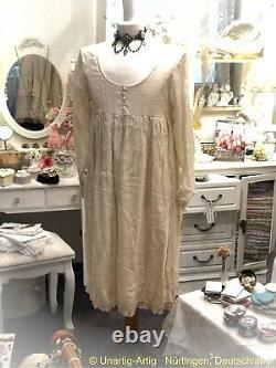 Les Ours Kleid Gr. M Organza Rosé Neu Spitze Vintage Shabby Chic