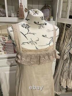Les Ours Kleid Neu Organza Rosé Gr. S Sommer Julie Vintage Shabby Spitze Rüschen