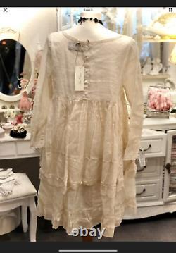 Les Ours Kleid Organza Rosé Neu Vintage Shabby Chic