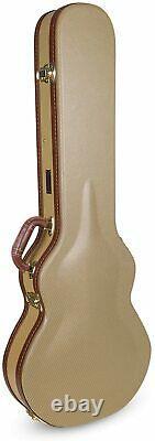 Les Paul Electric Guitars Case with Semi-vintage Arched Hardshell Vinyl Textile