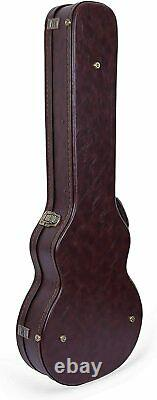 Les Paul Electric Guitars Case with Semi-vintage Look Arched Hardshell in Brown