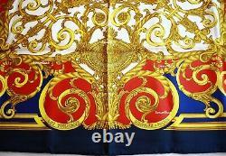 NWOT AUTH. Vintage Hermes Paris Scarf Les Tuileries Joachim Metz 90CM