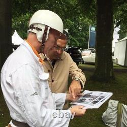 New PACTO Race Helmet 1950 style F1 Herbert johnson Les Leston Vintage Goodwood