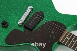 New Video Vintage 1958 Gibson Les Paul Jr Marty Bell Sparkle Green Vintage Refin