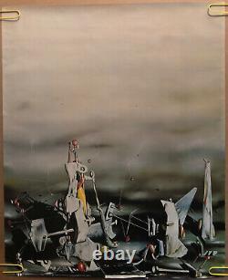 Original Vintage Poster Les Palaos Aux Rochers De La Fenetre Abstract Pin Up