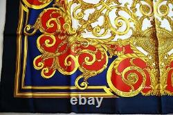 SALE NWOT AUTH. Vintage Hermes Paris Scarf Les Tuileries Joachim Metz 90CM