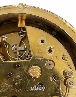 Tiffany and Co Les Freres Vuilleumier Minute Repeater Desk Alarm Clock Brass 1/1