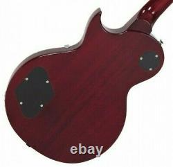 Vintage Brand V100CS Les Paul single cut electric guitar flame top sunburst