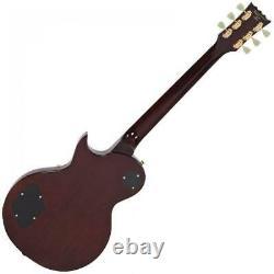 Vintage Brand V100TSB Les Paul single cut electric guitar Tobacco Sunburst