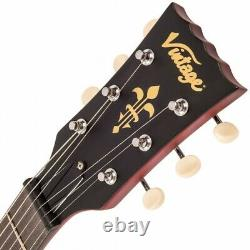 Vintage Brand V130CRS Les Paul Junior in cherry red finish with single dog e
