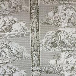 Vintage Clarence House Les Signes Des Dieux Cotton Fabric 5 Yards
