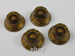 Vintage Clone Parts CLONE 59 GOLD BONNET KNOBS for Gibson Les Paul'59 guitars