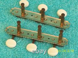 Vintage Kluson Single Line 3x3 Plate tuners new Buttons Gibson Les Paul Jr J45