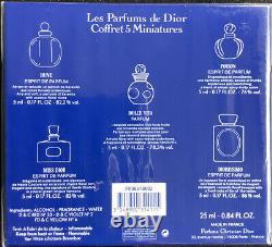 Vintage Les Parfums De Dior Minature Collection Gift Set New Sealed