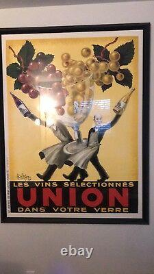 Vintage Les Vins Dans Votre Cerre Union Roby 1950 French Wine Framed Poster