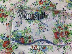 Vintage Wamsutta D. Porthault Les Fleurs Floral Twin Flat & New Fitted Sheet Set