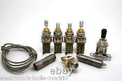 Vintage Wiring Kit Push/push Short Shaft & K40y-9 Jimmy Page For Gibson Les Paul