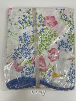 Wamsutta D. Porthault Les Fleurs Floral Set of 2 Standard Pillowcases Vintage